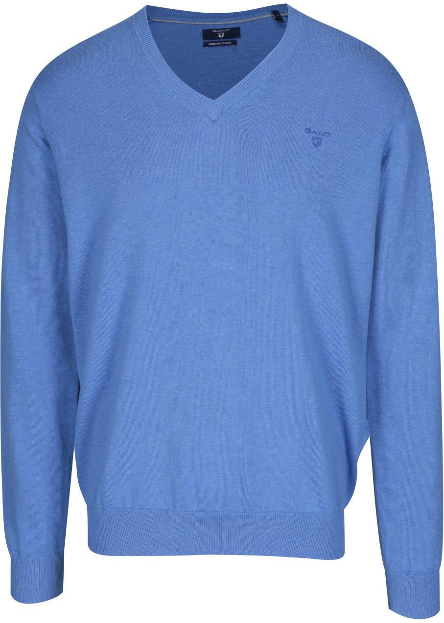 cbdf5f1e679d Modrý pánsky sveter s véčkovým výstrihom GANT značky Gant - Lovely.sk