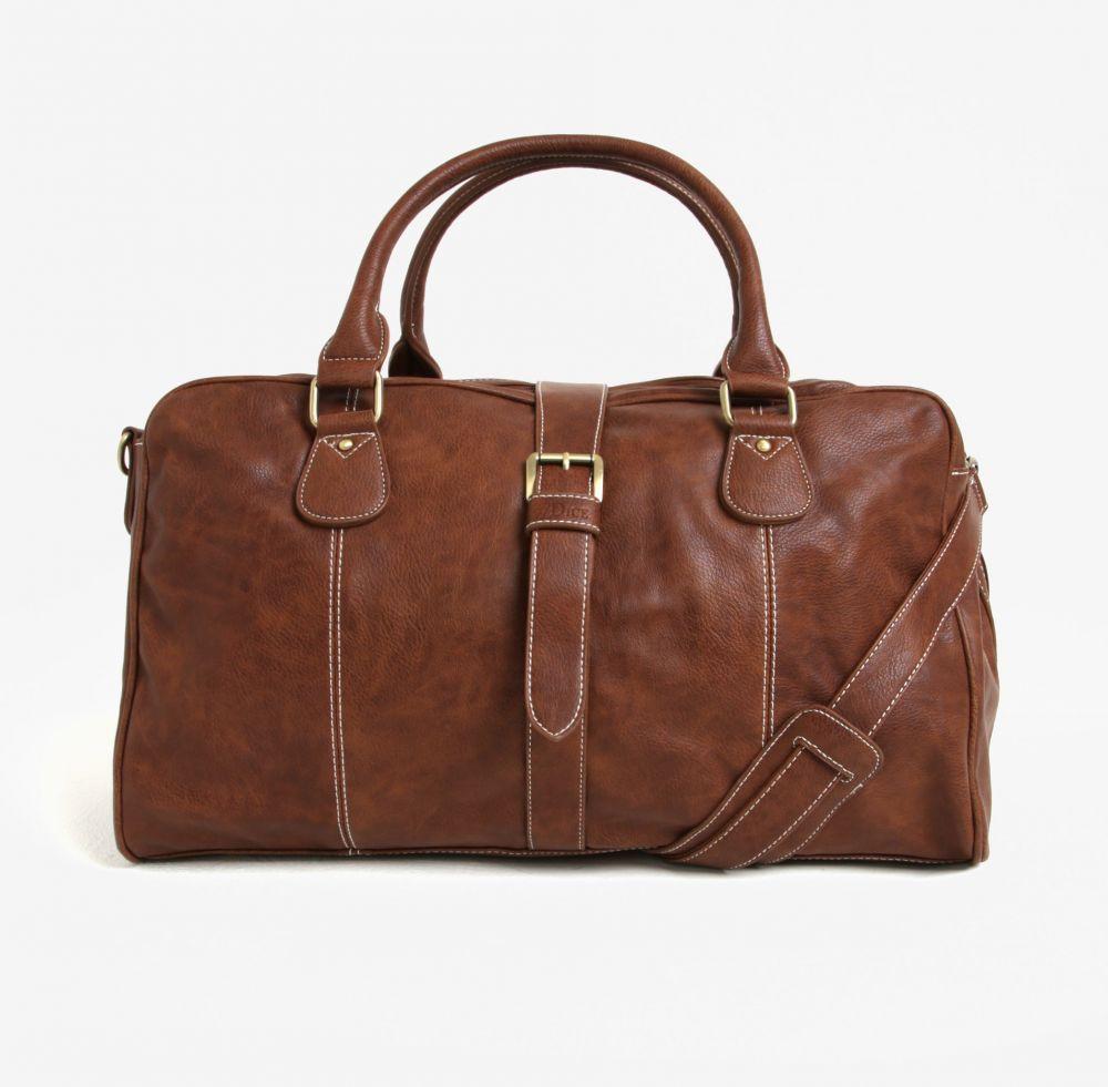 808d9a154622 Hnedá kožená cestovná taška Dice Overnight značky Dice - Lovely.sk