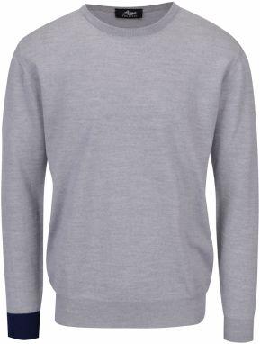 Sivý sveter z merino vlny Live Sweaters 65907afbd22
