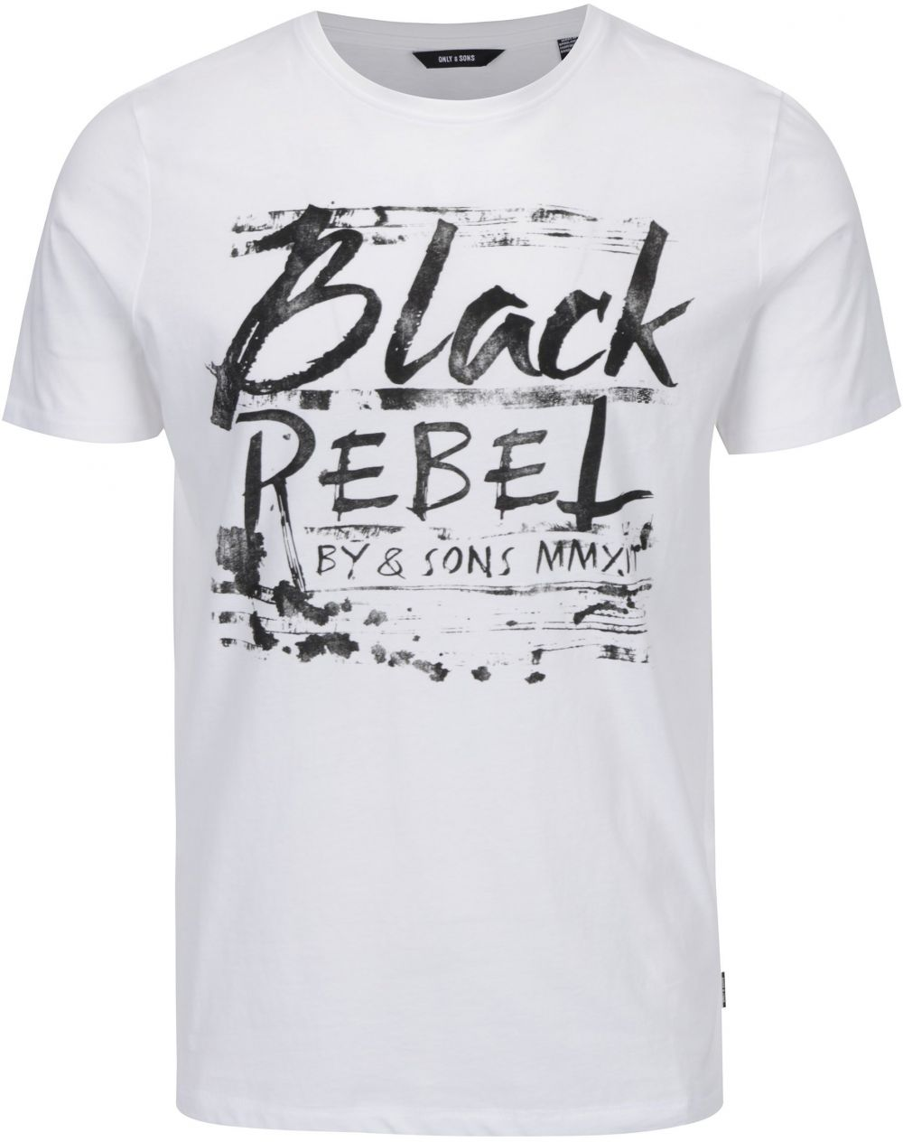 fbfc93e3cc8b0 Biele tričko s nápisom ONLY & SONS Busker značky ONLY & SONS - Lovely.sk