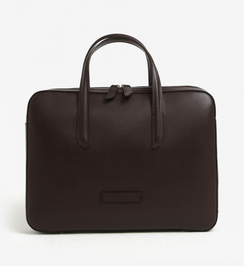 1e55745c60 Tmavohnedá dámska kožená taška na notebook ELEGA Lester značky Elega -  Lovely.sk