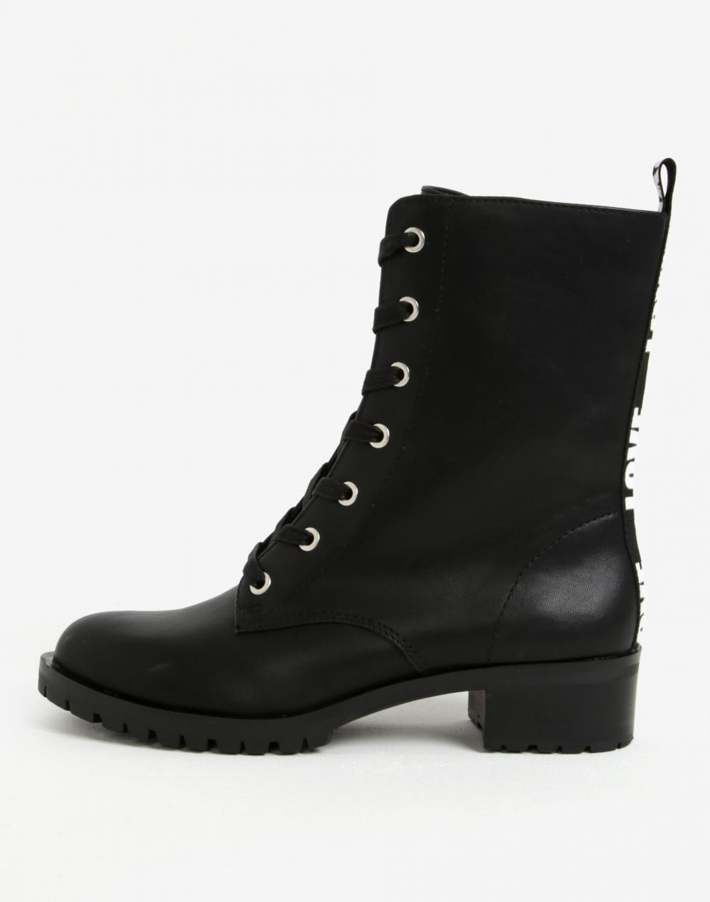 0095326415 Čierne členkové dámske topánky s potlačou na päte ALDO Trulle značky ALDO -  Lovely.sk
