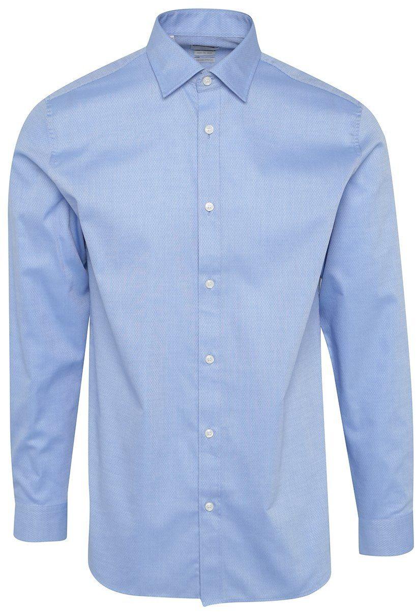 9d015c01a5 Svetlomodrá vzorovaná formálna regular fit košeľa Selected Homme Two ...