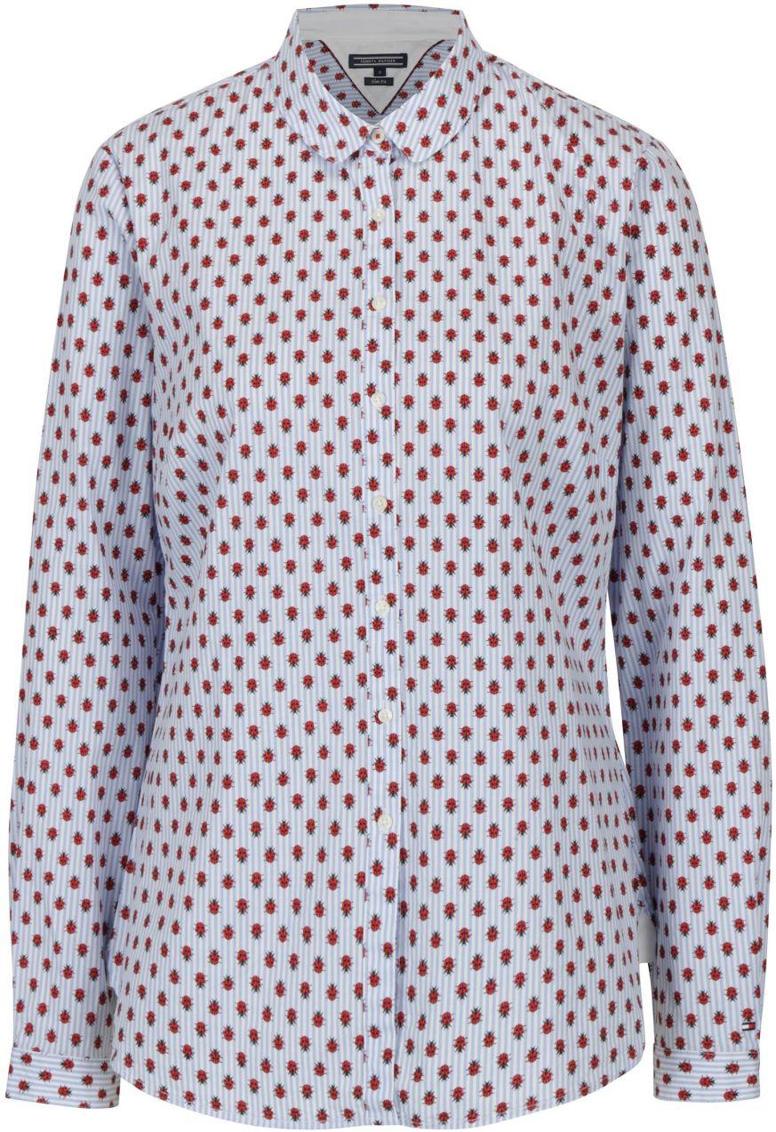 e74b3b3ca9 Modrá dámska pruhovaná slim fit košeľa s motívom lienok Tommy Hilfiger  značky Tommy Hilfiger - Lovely.sk