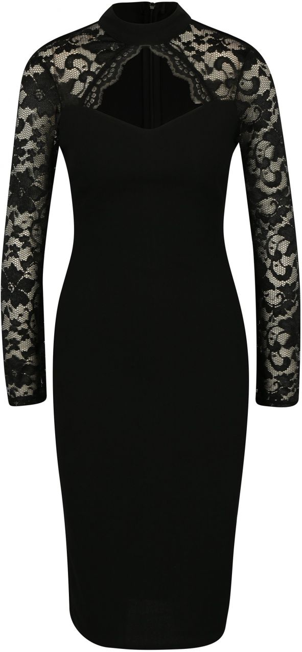 Čierne puzdrové šaty s prestrihom v dekolte AX Paris značky AX Paris -  Lovely.sk c334db15289