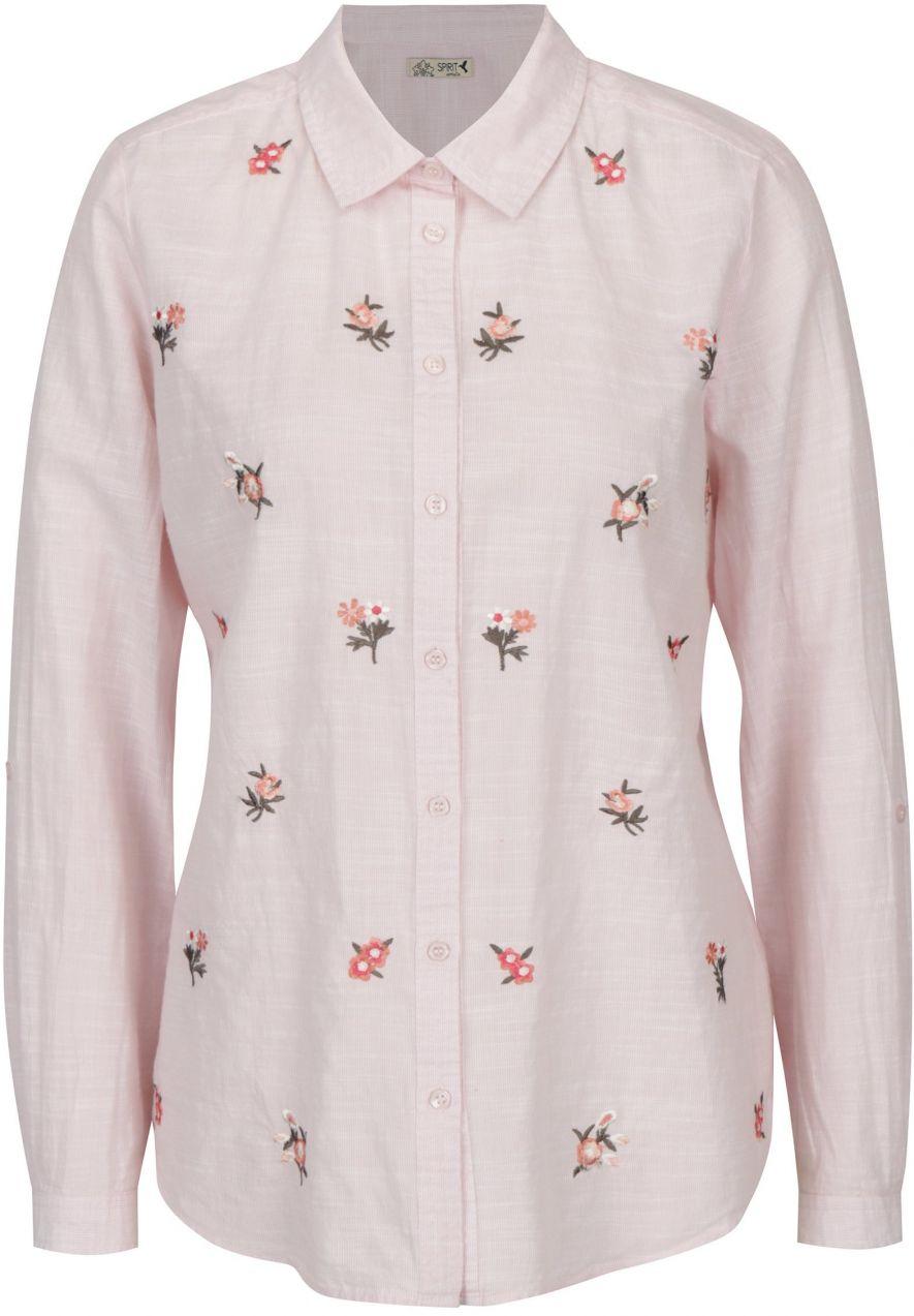 1f27de935b87 Svetloružová košeľa s výšivkami M Co značky M Co - Lovely.sk