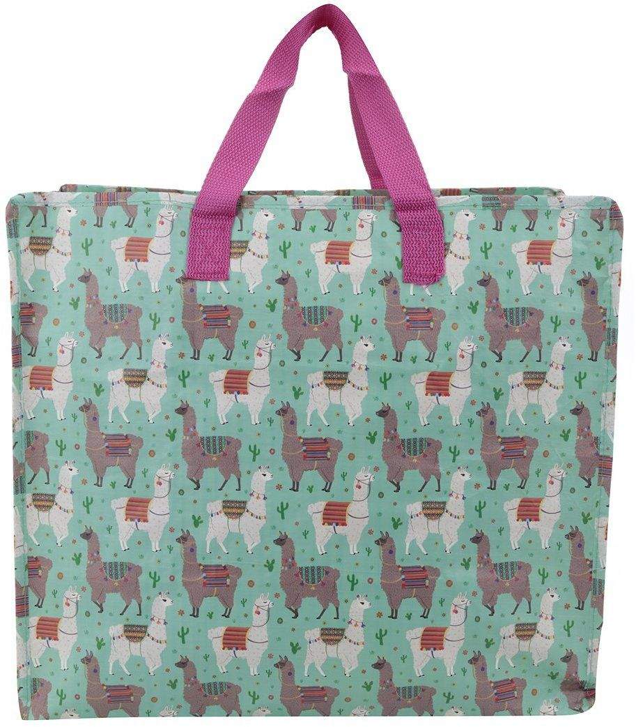 e72581ff2b Zelená skladovacia taška s motívom lám Sass   Belle Lima Llama značky Sass    Belle - Lovely.sk