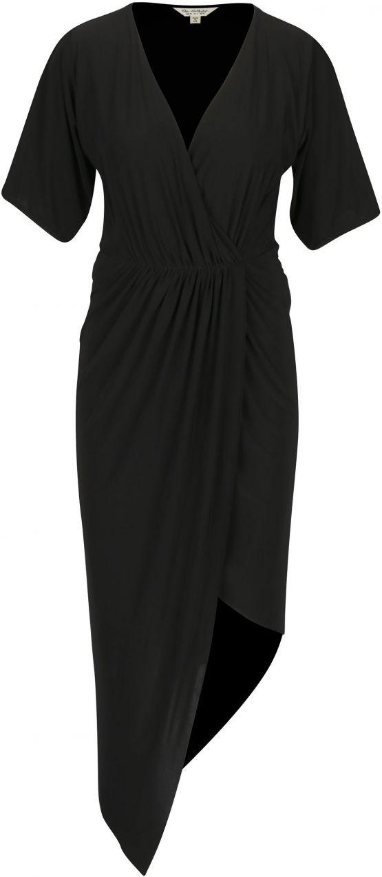 Čierne asymetrické šaty s krátkym rukávom Miss Selfridge značky Miss  Selfridge - Lovely.sk 5080dea0b1