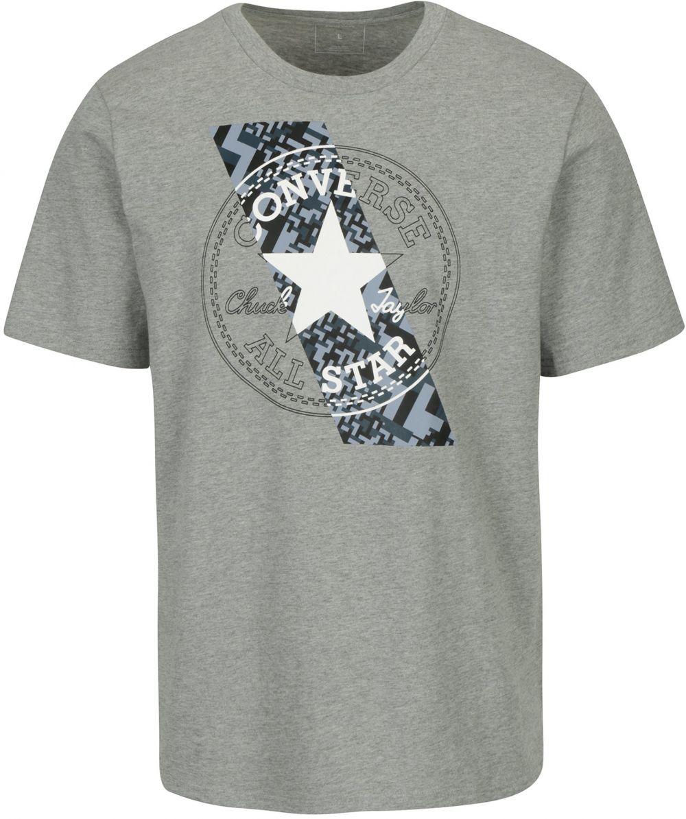 aff617957 Sivé pánske tričko s krátkym rukávom Converse Chuckpatch značky Converse -  Lovely.sk
