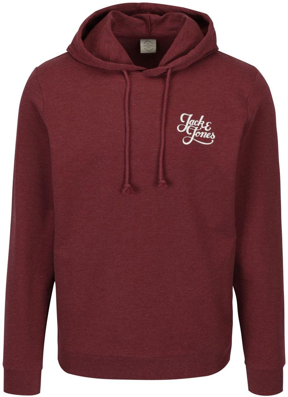 Vínová mikina s kapucňou Jack   Jones Galions značky Jack   Jones -  Lovely.sk 788a921bdd4