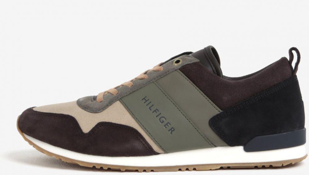 Hnedo-zelené pánske kožené tenisky Tommy Hilfiger značky Tommy Hilfiger -  Lovely.sk 8e30dd0b081