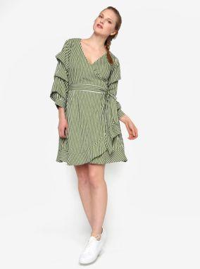Krémovo-zelené zavinovacie šaty VILA Picana značky VILA - Lovely.sk 1f84764d163