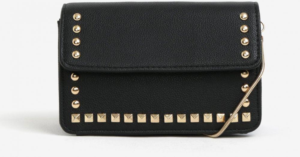 7024d74c8e Čierna crossbody kabelka s detailmi v zlatej farbe Miss Selfridge značky Miss  Selfridge - Lovely.sk