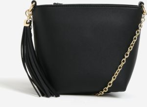 Čierna crossbody kabelka so strapcom Miss Selfridge