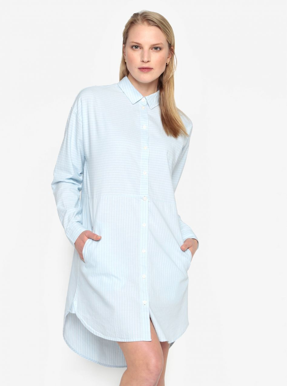 Svetlomodré pruhované košeľové šaty Selected Femme Lillian značky Selected  Femme - Lovely.sk ad94a30504b