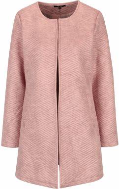 Ružový vzorovaný kabát s vreckami Yest d9378899e5c