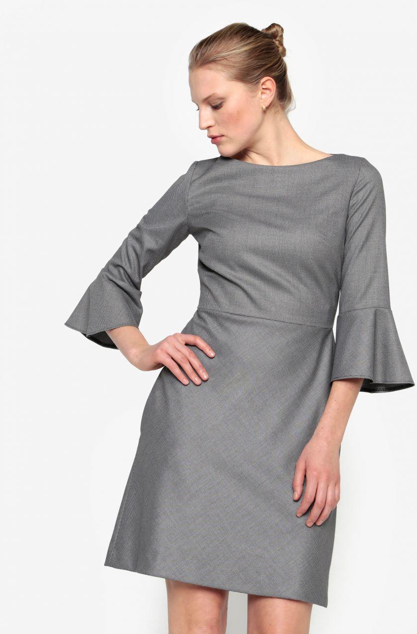 3fb1df2e3dae Sivé šaty so zvonovými rukávmi Pietro Filipi značky Pietro Filipi -  Lovely.sk