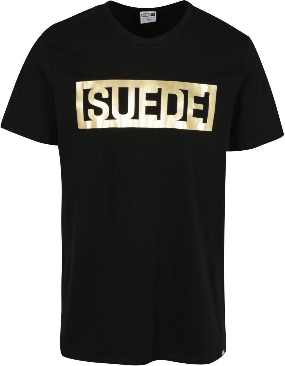 f6b1e7c4bfec Čierne pánske tričko s potlačou v zlatej farbe Puma značky Puma - Lovely.sk