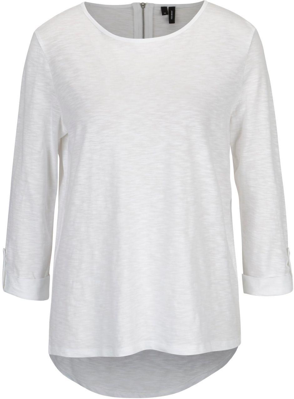 9370a839d4 Biele tričko s 3 4 rukávom VERO MODA Malka značky Vero Moda - Lovely.sk