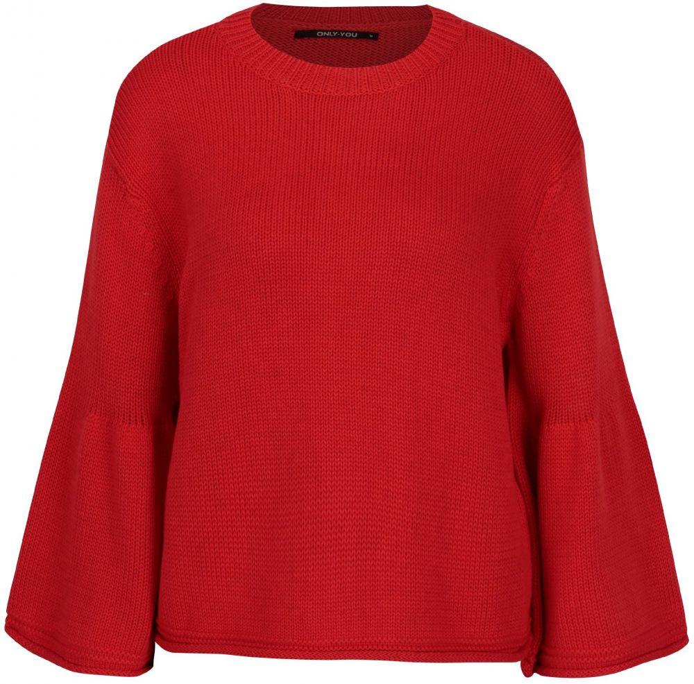 2f756f862bda Červený voľný crop sveter ONLY Sana značky ONLY - Lovely.sk