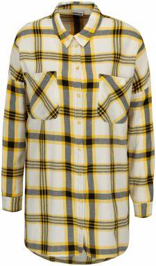 19197717d819 Žltá dlhá károvaná košeľa Noisy May Erik