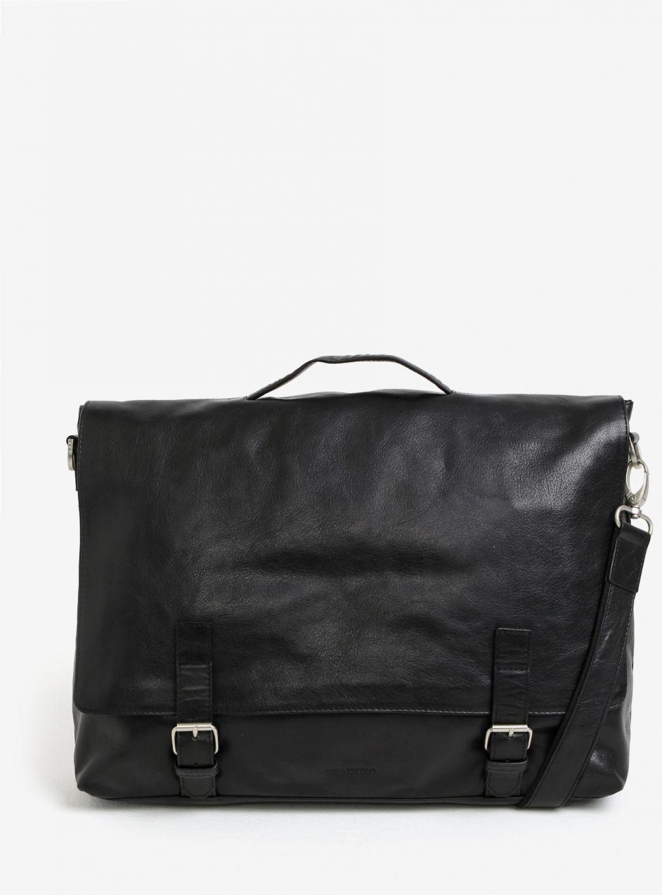 78122e81b4 Čierna pánska kožená taška na notebook Royal RepubliQ Essential značky Royal  RepubliQ - Lovely.sk