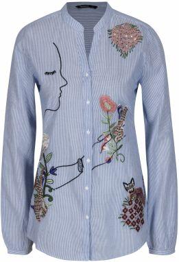 147346f47893 Desigual denimová dlhá košeľa Lizzy značky Desigual - Lovely.sk