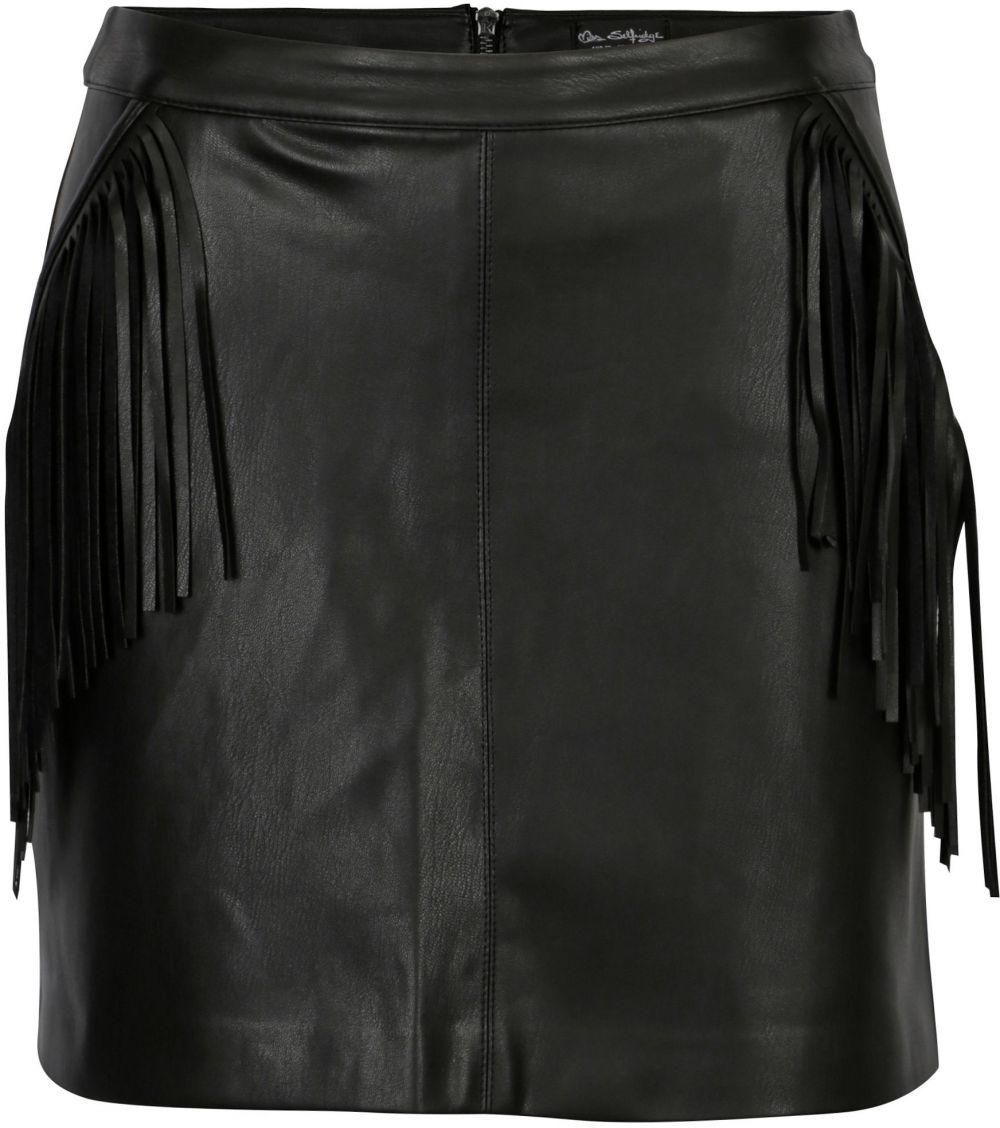 10700da0091f Čierna koženková sukňa so strapcami Miss Selfridge značky Miss Selfridge -  Lovely.sk