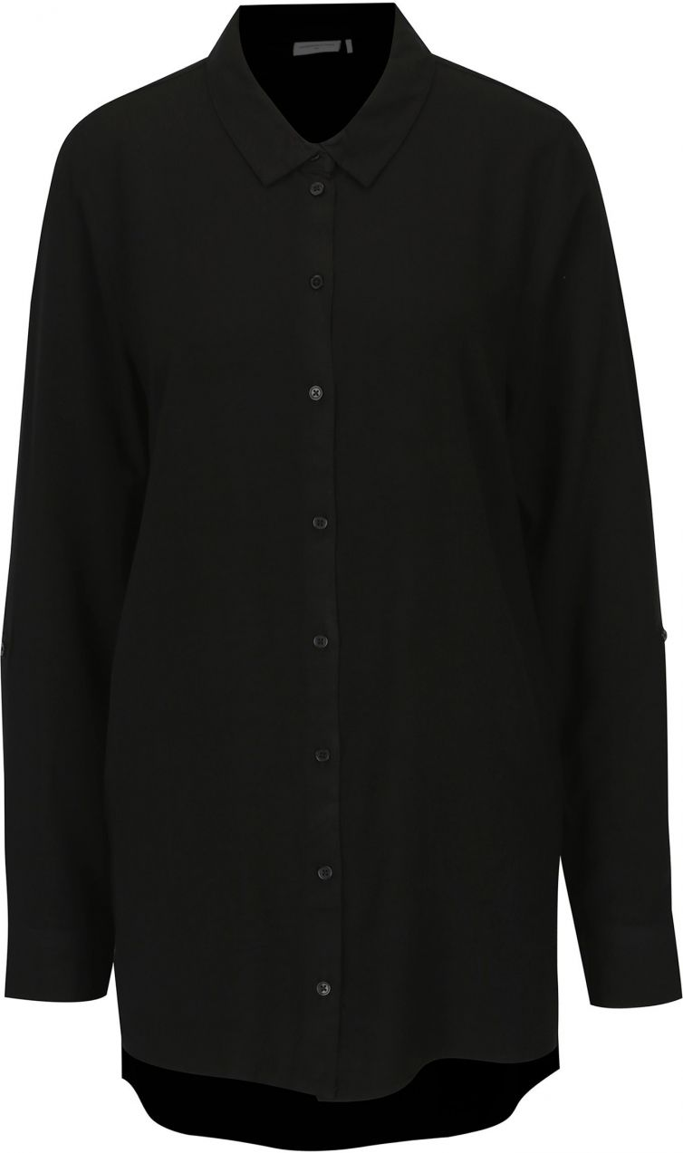 10ae0db21169 Čierna dlhá košeľa Jacqueline de Yong Togo značky Jacqueline de Yong -  Lovely.sk