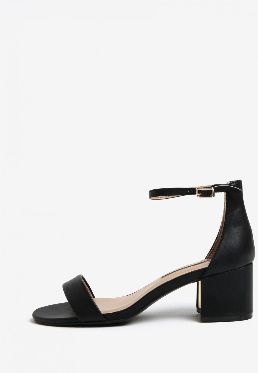 26f25879b240f čierne sandále na podpätku Dorothy Perkins značky Dorothy Perkins -  Lovely.sk
