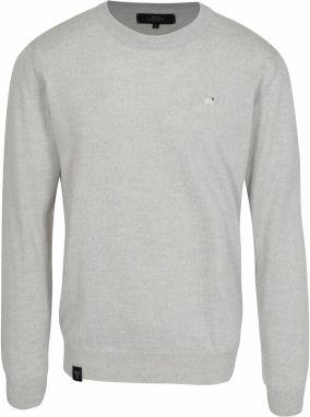 Svetlosivý pánsky tenký sveter z merino vlny Makia Merino d9aed58786f