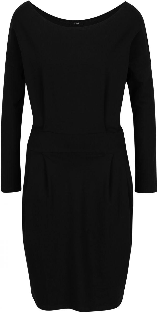 4ea93ab28762 Čierne puzdrové šaty s vreckami a dlhým rukávom ZOOT značky ZOOT ...