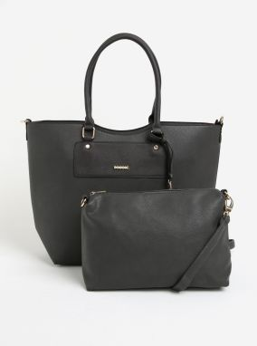 Sivý shopper s crossbody kabelkou 2v1 Bessie London