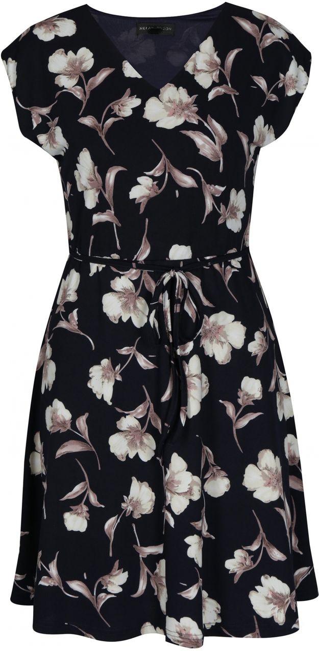 Tmavomodré áčkové kvetované šaty Mela London značky Mela London ... f7771d656d