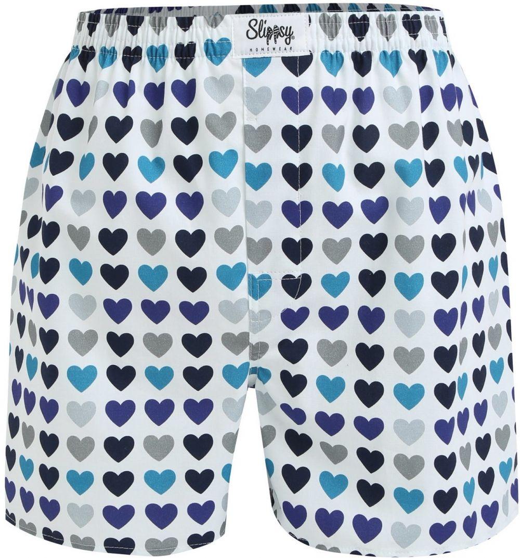 996c7412a Modro-biele pánske trenírky so srdiečkami Slippsy Frozen Boy značky Slippsy  - Lovely.sk