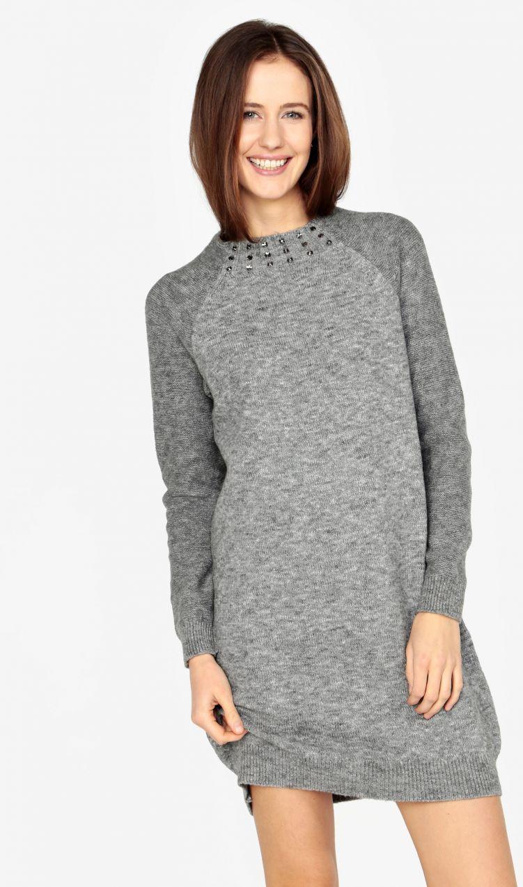 502c3d6725ef Sivé melírované svetrové šaty s dlhým rukávom s.Oliver značky s.Oliver -  Lovely.sk