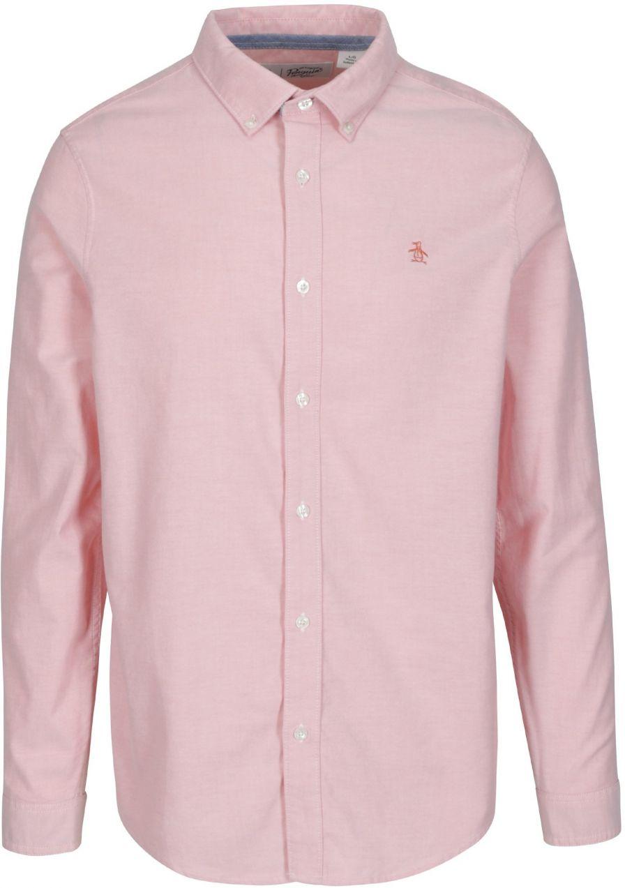 ef9670a25b33 Ružová košeľa s dlhým rukávom Original Penguin Oxford značky ...