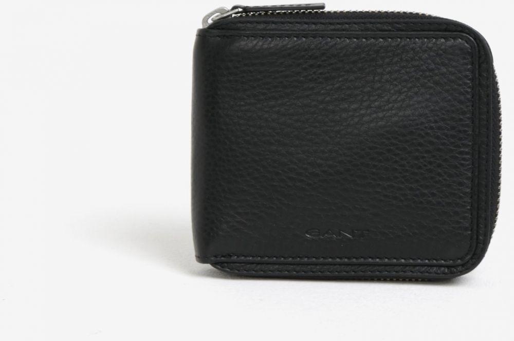 ab0b3b2ad3 Čierna pánska kožená peňaženka na zips GANT značky Gant - Lovely.sk