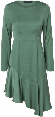 Svetlozelené asymetrické zavinovacie šaty VERO MODA Alanna značky ... aa00cf75419