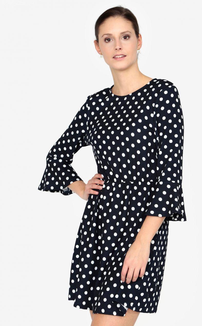 9cc5c747f6e9 Tmavomodré bodkované šaty AX Paris značky AX Paris - Lovely.sk