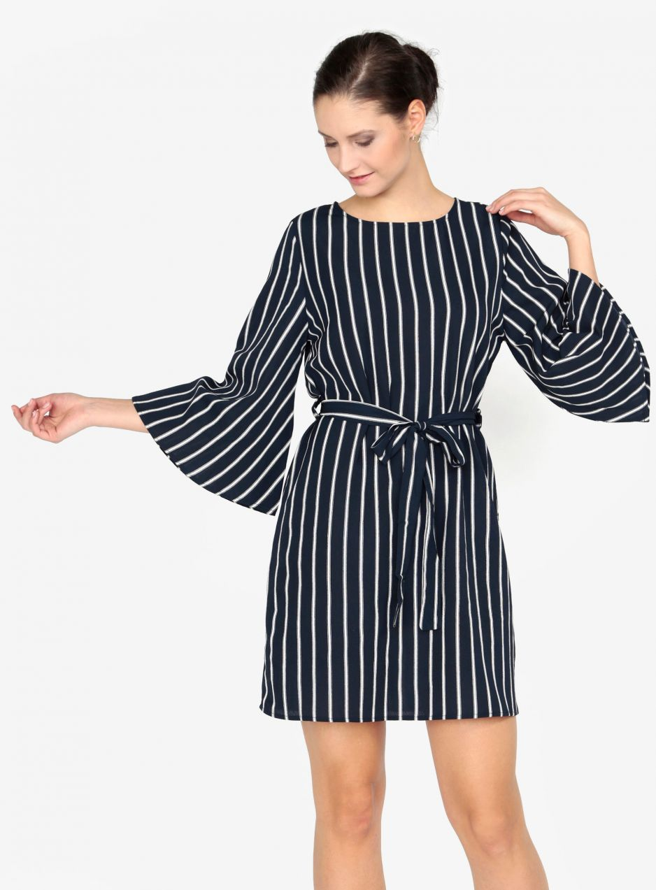 b562cea46bf Tmavomodré pruhované šaty AX Paris značky AX Paris - Lovely.sk