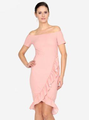dc0a3b187811 Puzdrové ružové šaty so stojačikom AX Paris značky AX Paris - Lovely.sk