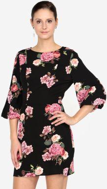 Čierne kvetované šaty s 3 4 rukávom AX Paris 7dd961909fe