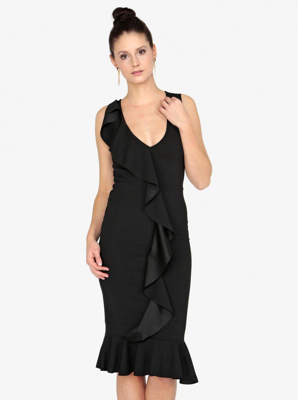 129bd87d8d55 Čierne puzdrové šaty s volánom MISSGUIDED značky Missguided - Lovely.sk