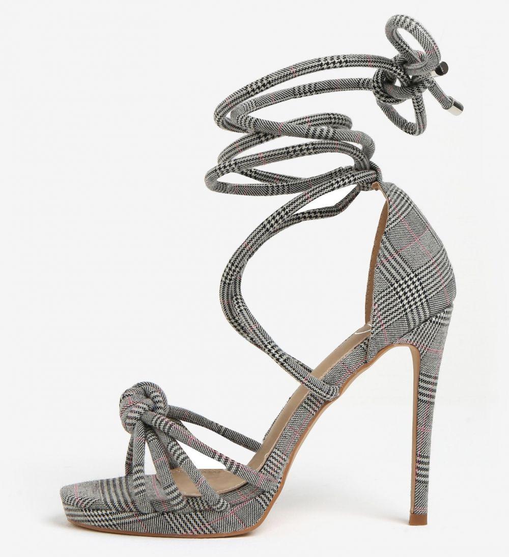 ef7d1566f739 Čierno-sivé vzorované sandáliky MISSGUIDED značky Missguided - Lovely.sk