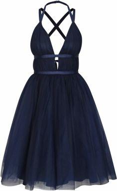 a9ec0bbbbdfc Tmavomodré šaty s odhaleným chrbtom Chi Chi London Ivonette