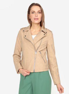 Béžová koženková bunda s vnútornou umelou kožušinkou Dorothy Perkins ... 2ab2c77001e