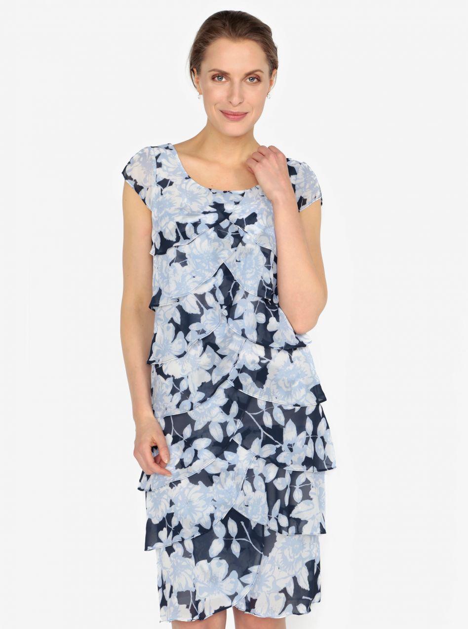 65a56e5b890b Modré vzorované šaty s volánmi M Co značky M Co - Lovely.sk