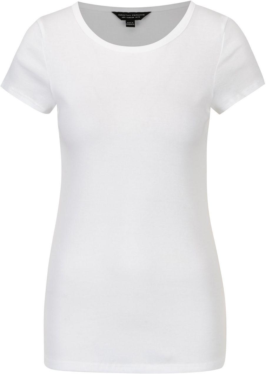 f9272f1b3306 Biele tričko s krátkym rukávom Dorothy Perkins značky Dorothy Perkins -  Lovely.sk