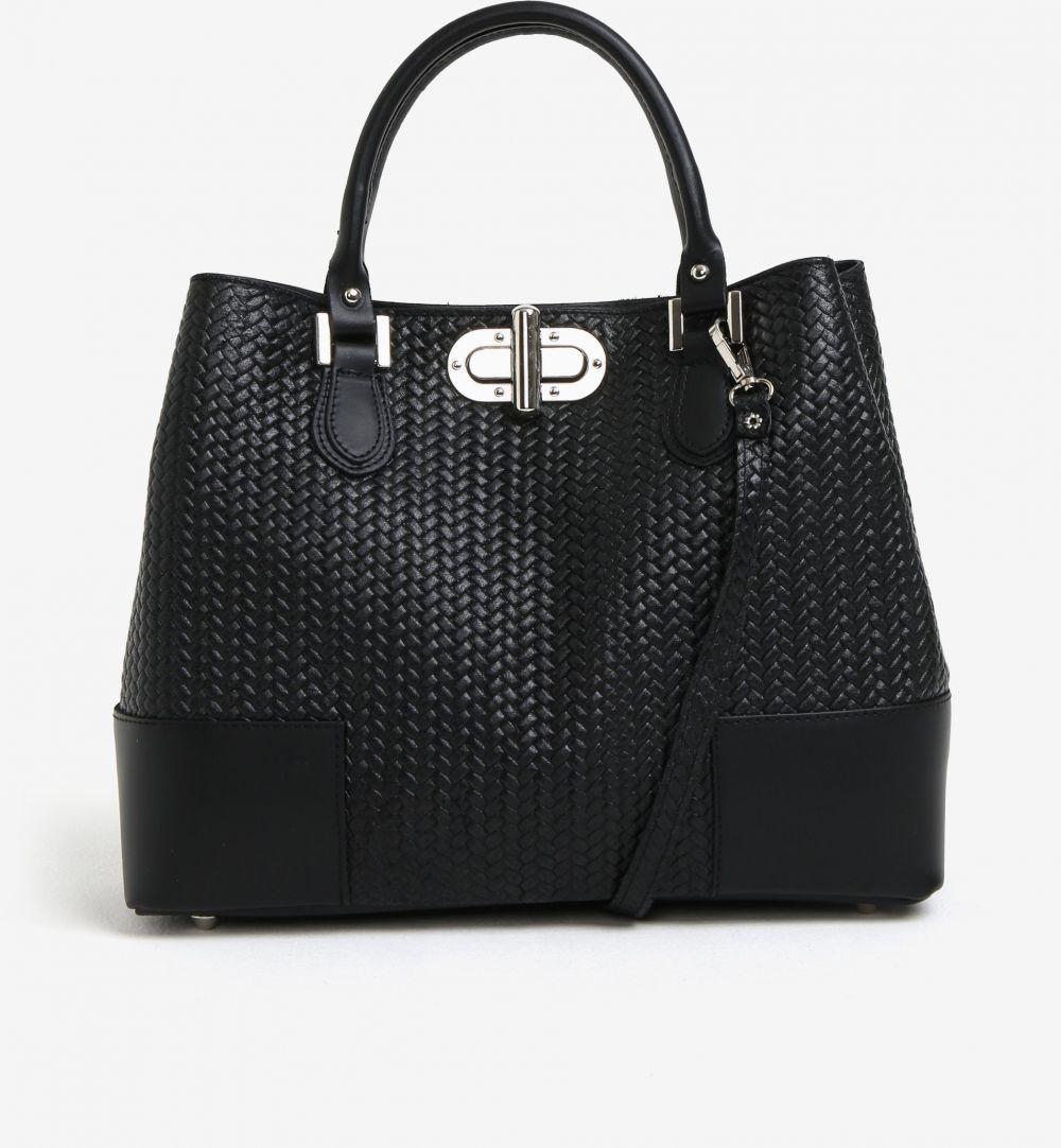 dea2993e3096 Čierna dámska kožená kabelka so vzorom KARA značky KARA - Lovely.sk